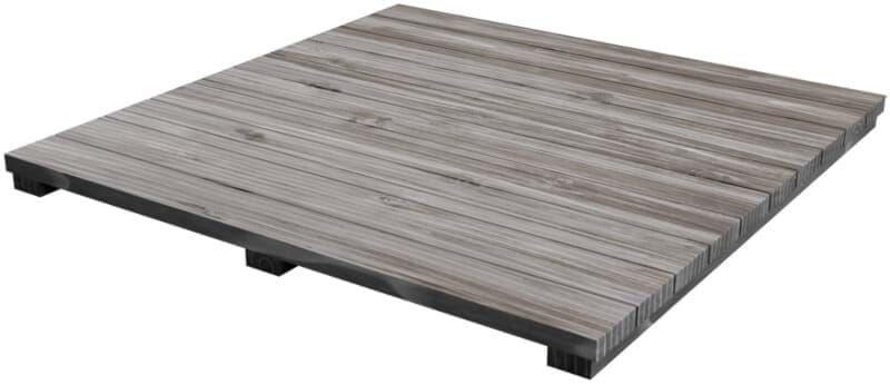 Acacia houten plateau grijs - Modular Outdoor Workspace