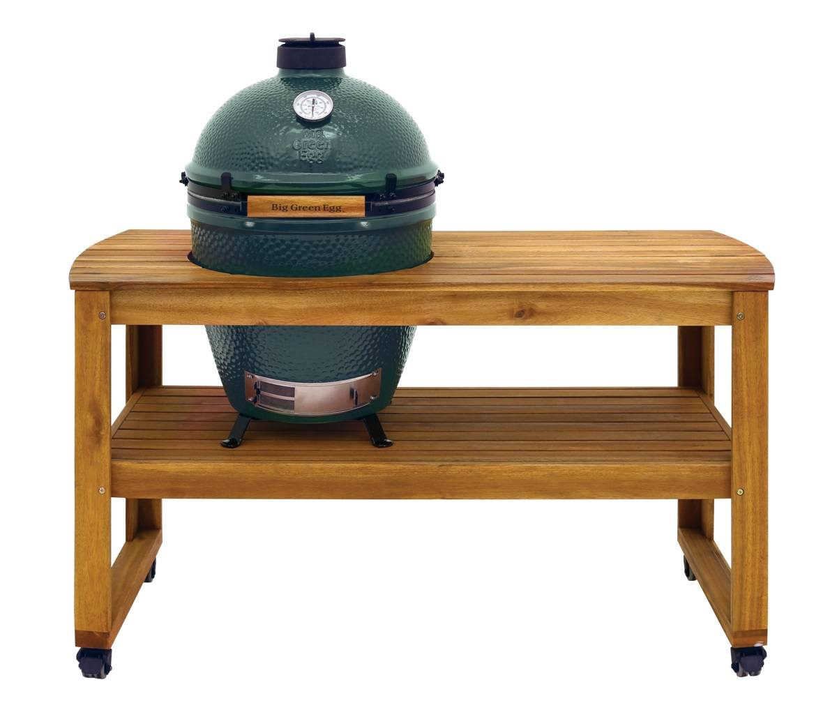 Acacia tafel + Big Green Egg large