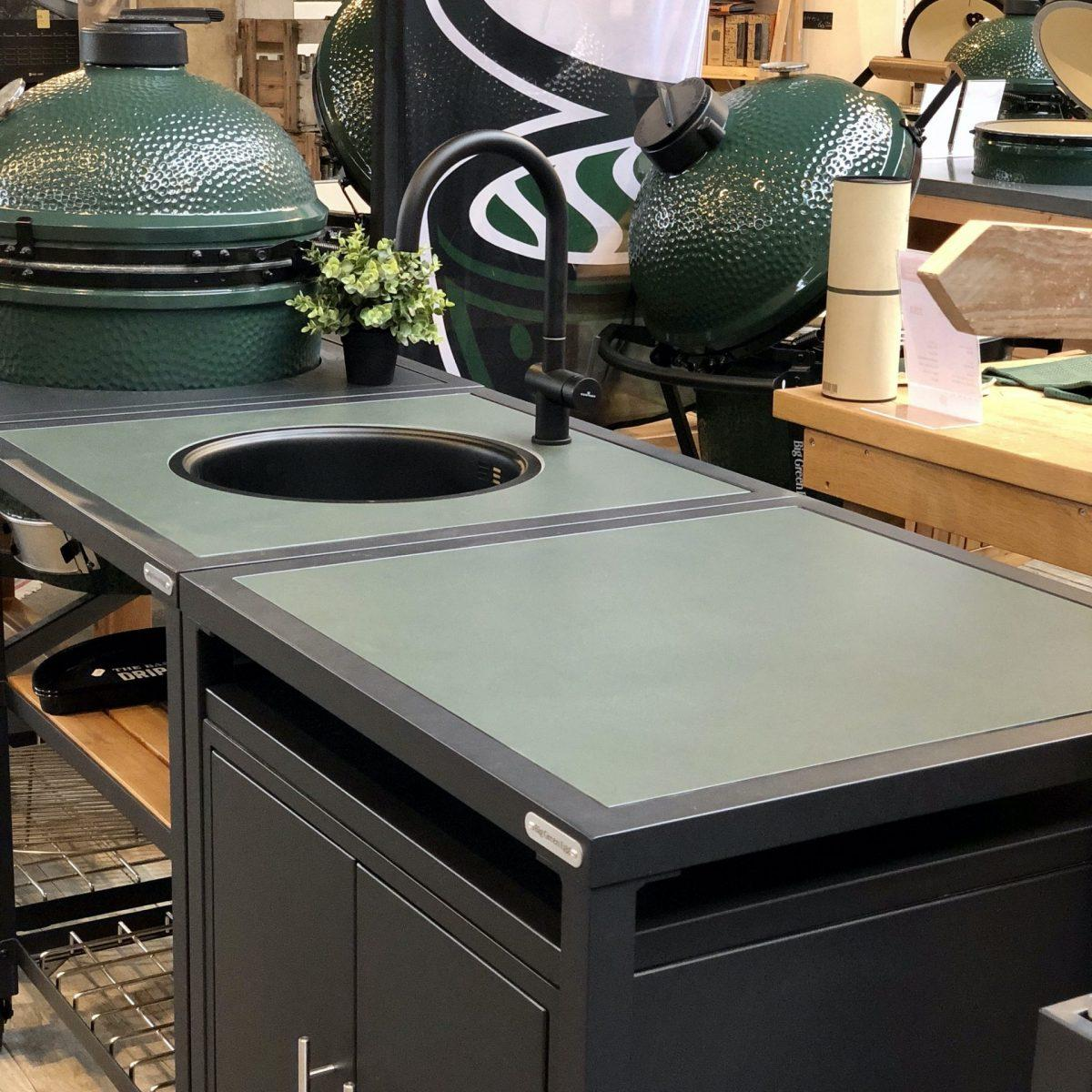 Dekton natuursteen insert - Modular Outdoor Workspace - Big Green Egg