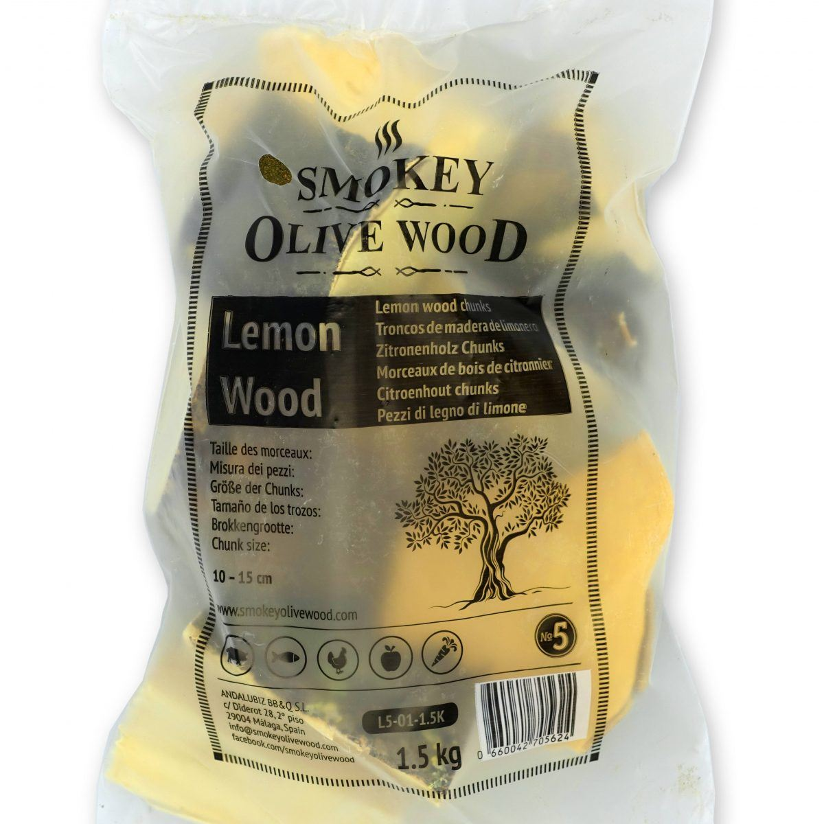 Rookchunks nr.5 1,5 kg citroen Smokey Olive Wood