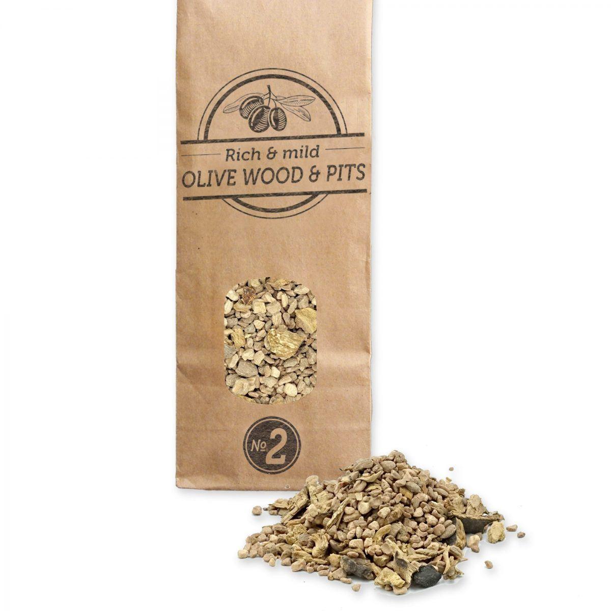 Rooksnippers nr. 2 500 ml olijf & olijvenpitten Smokey Olive Wood